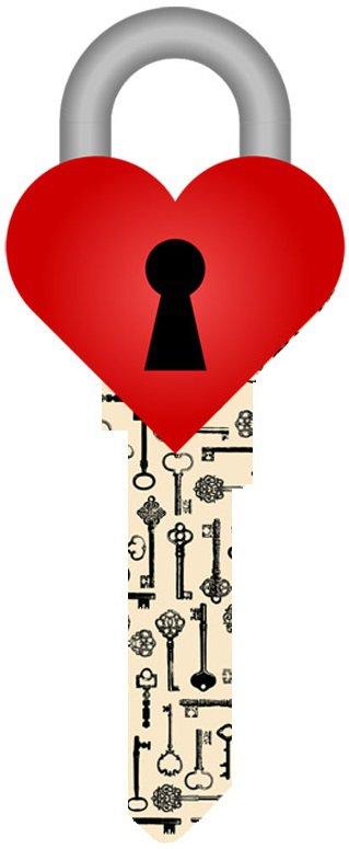 Key Blanks:Model 3D HEART LOCK Key Blanks - Kwikset