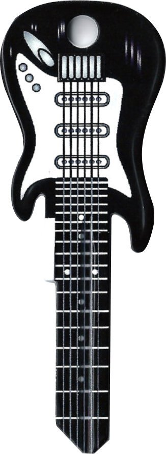 Key Blanks:Model BLACK GUITAR KEY Blanks - Schlage