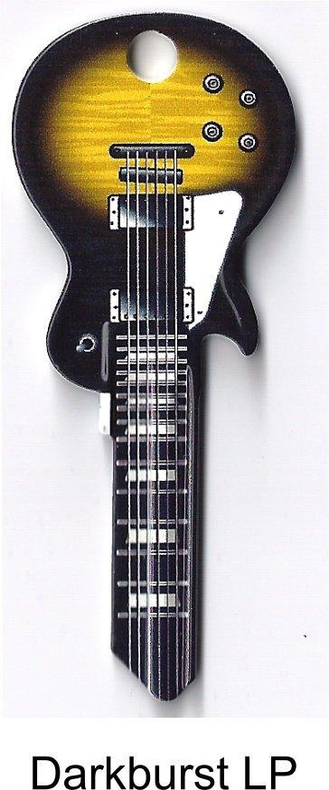 Key Blanks:Model BLACK & YELLOW LP GUITAR Blanks - Kwikset