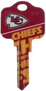 Key Blanks: Model: NFL - Kansas City Chiefs Key Blanks -Schlage