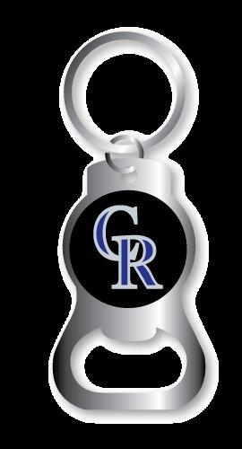 Key Chains: Model: MLB - COLORADO ROCKIES BOTTLE OPENER Keychain