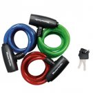 Cable Lock: Master Lock Model No. 8127TRI Keyed Cable Lock; Assorted Colors