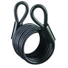 Cable Lock: Master Lock: Model No. 61DAT Braided Steel Looped End Cable