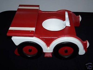 NEW WOODEN RACE CAR POTTY CHAIR