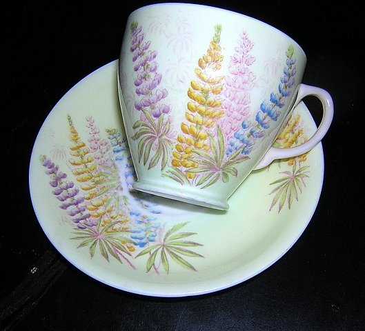 Old Royal bone china cup saucer foxglove 1930s vintage hc1041