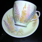 Old Royal bone china cup saucer foxglove 1930s vintage hc1041