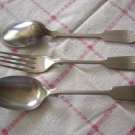 2 Yukon Silver soup spoons 1 fork A1 S. Hibbert & Son hc1139