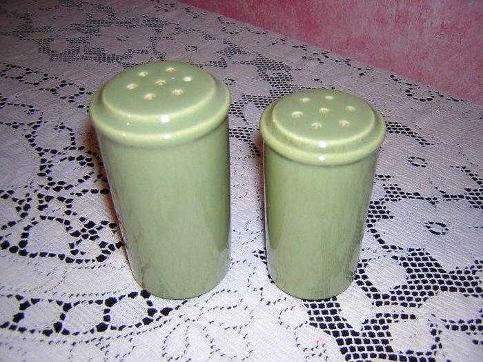 1970s Avocado salt pepper shakers Danish modern vintage hc1168