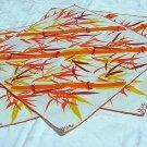 3 Vera dinner napkins orange bamboo vintage linens crafts hc1199