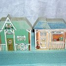 Lynn McNeill miniature shops shelf sitters hand painted 4 shoppes hc1223