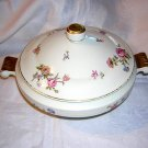 Cerabel porcelain covered serving dish with roses Art Deco hc1228