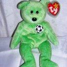 Kicks retired Ty beanie baby soccer bear mint bilingual tags hc1258