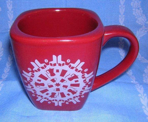 Starbucks 2004 snowflake mug clever Christmas design unused hc1269