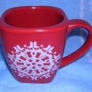 Starbucks 2004 snowflake mug clever Christmas design unused hc1269