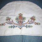 Antique cross-stitched linen kitchen appliance cover hc1404