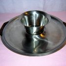 Scanli Denmark stainless steel dip bowl and large tray Eames Danish Modern era hc1422