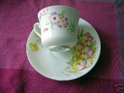 Phoenix hand painted bone china cup saucer dealer lot hc1434