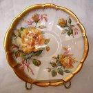 Royal Albert bone china saucer Gold Crest yellow roses hc1443