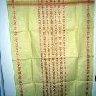 Linen tea towel or cloth woven design unused vintage Scaninavian look hc1489