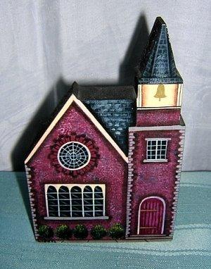Brandywine Woodcrafts brick church shelf sitter hc1594