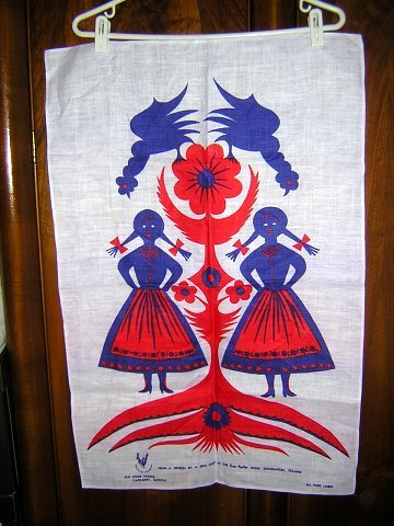 Sue Ryder Homes Poland linen towel designed by child unused hc1608
