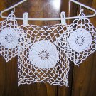 3 Piece set of buffet or vanity crocheted doilies handmade vintage hc1649