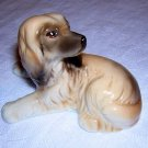 Afghan hound puppy small ceramic dog figurine as new hc1653