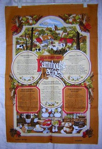 Old English Farmhouse Recipes towel Vista unused hc1706