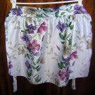 Pretty half apron stripes flowers lovely fabric unused hc1722