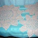 3 Piece pineapple crochet doily set for buffet or vanity hc1783