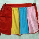 Party colors half apron piping unused cotton vintage hc1818