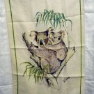 Koala bears linen tea towel designed by Ladelle vintage hc1819