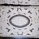 2 Lavish cutwork table mats with crocheted accents vintage hc1821