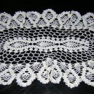 Elongated oval hand crocheted vintage doily pineapples hc1826