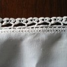 Antique linen tablecloth with tatted threadwork edge antique linens hc1830