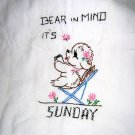 Bear in mind it's Sunday embroidered towel feedsack hc1838