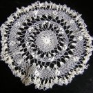 Lacy crocheted doily vintage and fine ivory hc1866