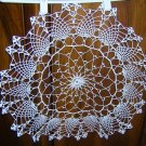 Large crocheted doily centerpiece spider web & pineapples hc1871