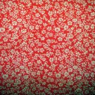 Hostess apron tiny floral print ruffle red excellent vintage hc1964