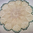 Set of 4 crocheted doilies 2 large 2 small pineapple centers vintagehc1972