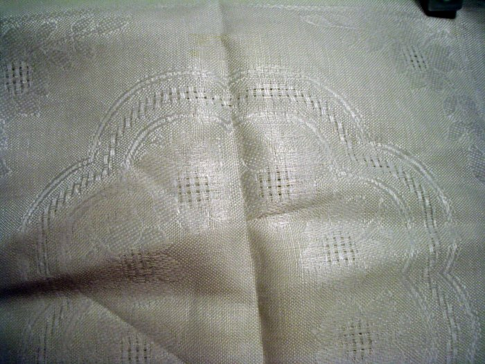 Set of 3 linen placemats jacquard weave threadwork antique linens hc2040