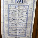 1998 Rome International School calendar towel stick figure students unused hc2053