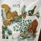 1995 Calendar cotton towel forest creatures mint vintage hc2068
