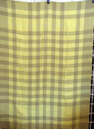 Eames era checkerboard tablecloth mint vintage linens hc1641