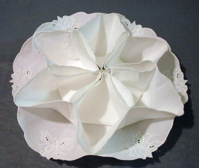 Whitework on cotton bun or roll cozy excellent vintage hc2098