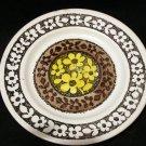 Kathie Winkle Lemon Grove bread butter plate retro Broadhurst ironstone vintage pottery hc2217
