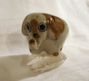 Vintage elephant figurine Palomar pottery Mexico KE Ken Edwards hc2292