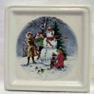 Old Forge Pottery England miniature ceramic picture snowman vintage hc2315
