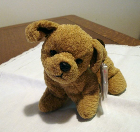 Tuffy the dog Ty Beanie Baby  brown toy retired mint  hc2328