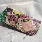 Artisan made chintz  eyeglasses holder case lightly padded unused hc2359
